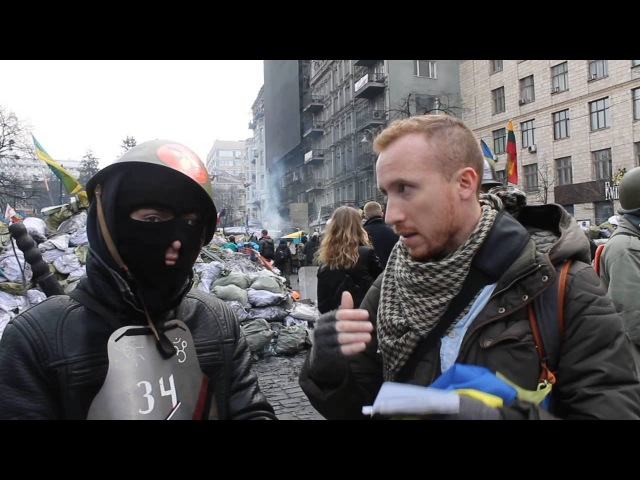 20 февраля 2014. Киев, Грушевского. Kiev, Ukraine Ceasefire Interview with Right Sector Rebel Roman