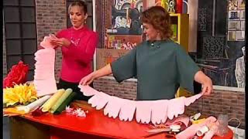 Как сделать ростовой цветок МК от Елены Глумовой