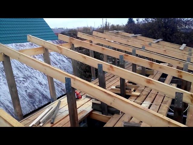 Обрешетка односкатной крыши под металлочерепитцу