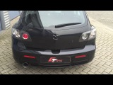 Mazda 3 turbo Extreme Sound Spitting Flames
