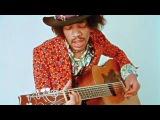 Джими Хендрикс играет на акустической гитаре (редкое видео)
