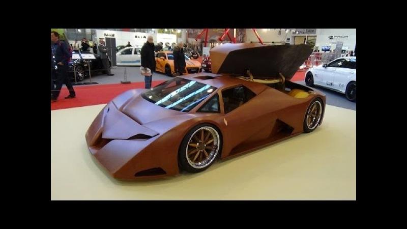 Splinter wooden supercar - Essen Motor Show 2015