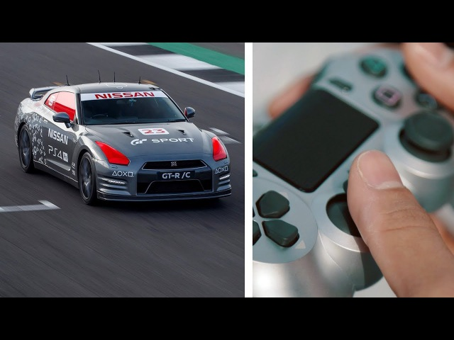 Nissan GT-R Driven with a Gaming Controller