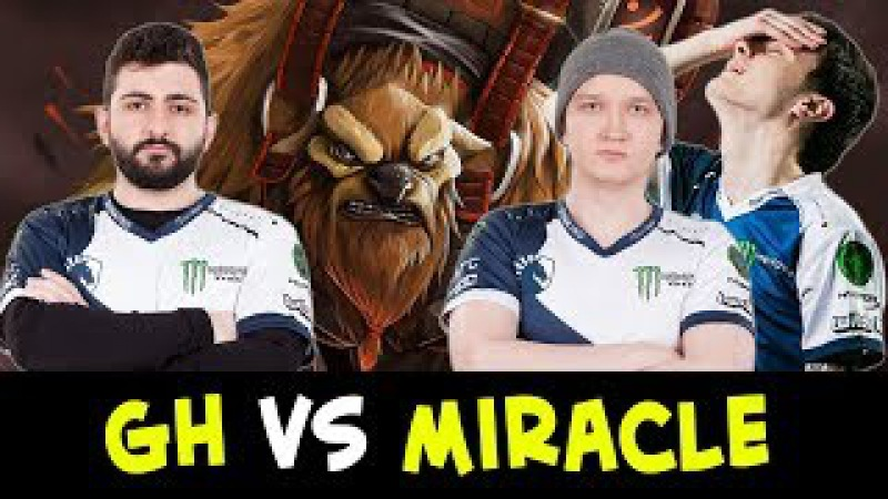 GH vs Miracle and Matu — support knows how to counter his cores