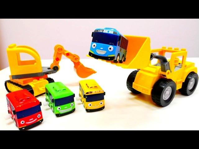 Tayo der Bus steckt fest - Spiel mit Tayo Toys!