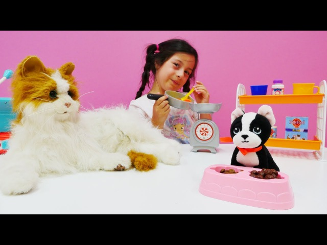 Hayvan bakma oyunları🐶 Evcil hayvan besle! Evcilik oyuncaklar. Eğitici video. Hayvan bakımı oyunu