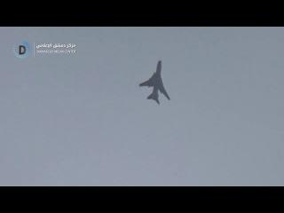 لحظة إستهداف الطيران الحربي الروسي مدينة عربين وحي جوبر الدمشقي بالغارات الجوية 11-2-2018