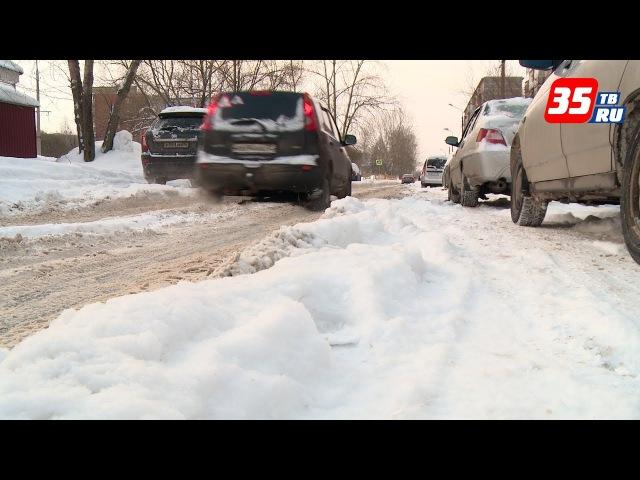 Для снегоуборки на дублерах пр. Победы в Череповце по ночам закрывают движение