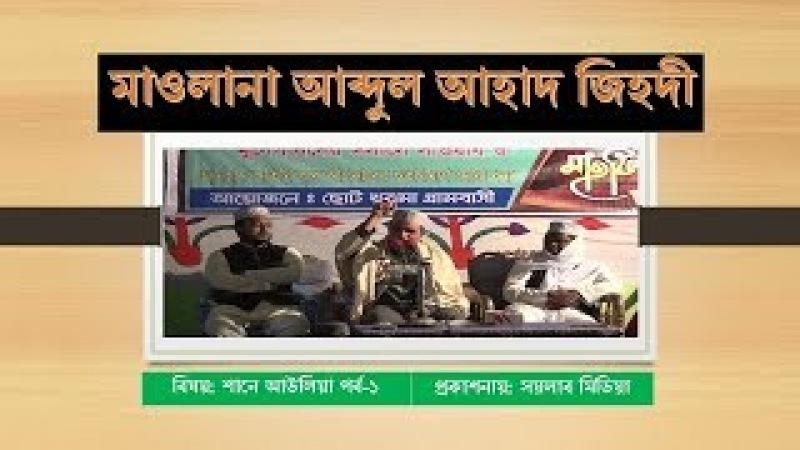 মাওলানা আব্দুল আহাদ জিহাদী Mawlana Abdul Ahad Jihadi part 1 soylabmedia