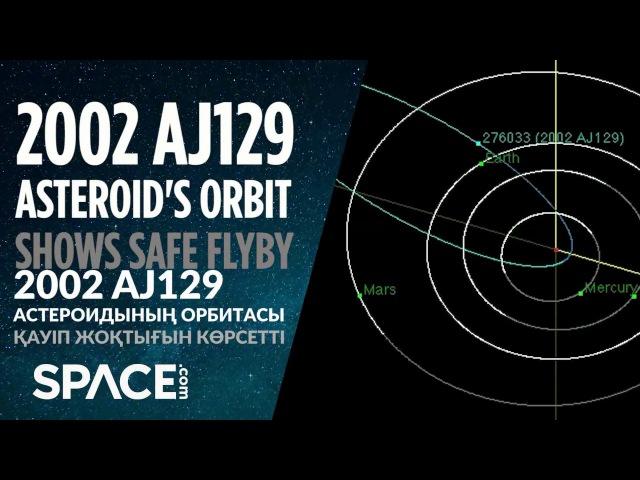 2002 AJ129 астероиды Еш қауіп жоқ