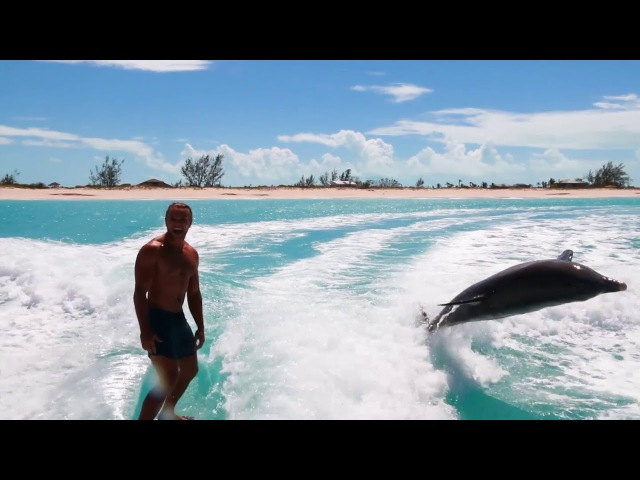 Wakesurfing with Dolphins - Turks and Caicos