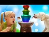 Johny Johny Yes Papa Song Funny Baby Learn Colors With puppy  Сhocolate Fountain   Nursery Rhymes