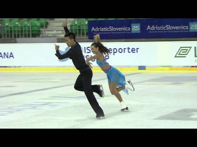 ISU 2014 Jr Grand Prix Ljubljana Short Dance Brianna DELMAESTRO / Timothy LUM CAN