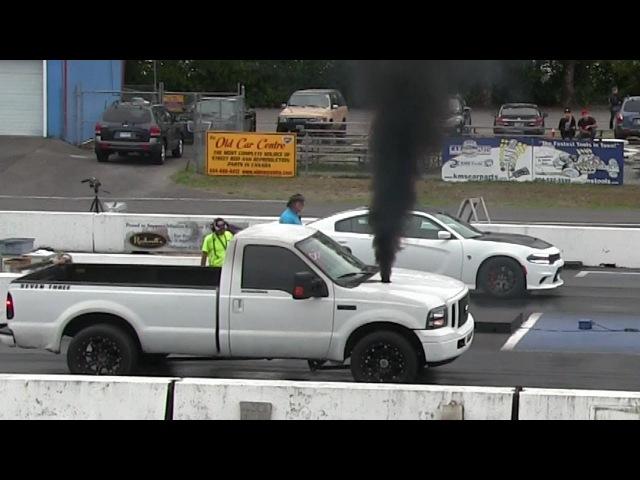 Pickup trucks on steroids-drag racing,ford f-150,Hellcat,Dodge Ram,Corvette