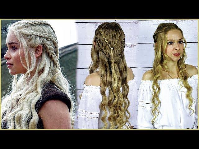 Прическа как у Дейенерис из фильма Игра Престолов Iconic game of Trones Hairstyle