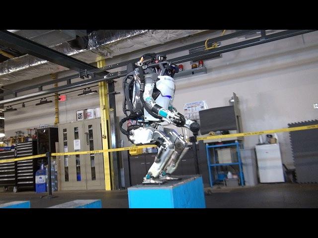 Робот Atlas производства Boston Dynamics. 16.11.2017