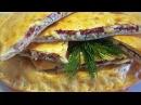 Пирог с творогом, сыром и копченой колбаской