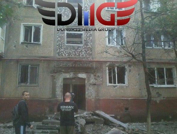 В Сети появились кадры последствий обстрела Горловки (ФОТО)