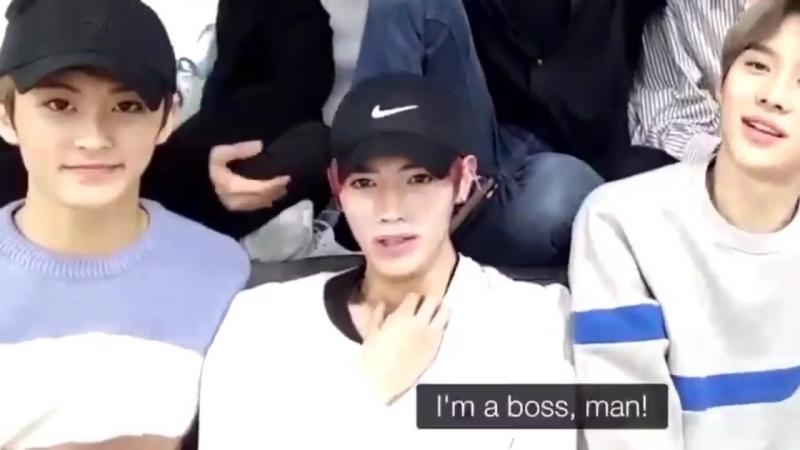 Taeyong trying to imitate lucas