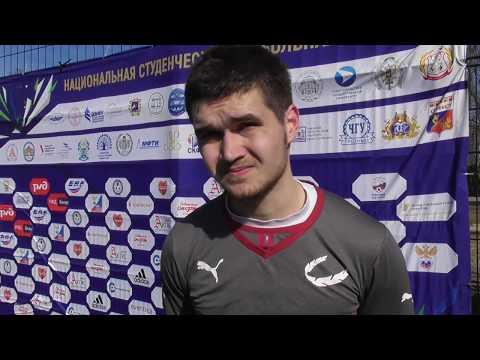 Полузащитник ПГАФКСиТ Азат Шамсутдинов после матча КГТУ - ПГАФКСиТ (2:0)