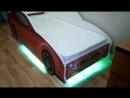 кровать с меняющейся подсветкой на пульте