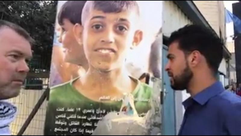 Robert Martin Un tireur d'élite israélien a tué Abed al Rahman Shadi Obeidallah un jeune Palestinien de 13 ans Il a reçu une