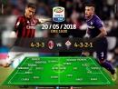 Милан - Фиорентина 1 тайм Чемпионат Италии тур 38 20.05.20178