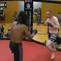 """MMA UNCENSORED on Instagram: """"Knocked Him Out So Hard He Stuck To The Cage ? ? Winner: Wayland Comanche Follow @mmavideos.official For More Crazy..."""