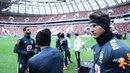 Mascote, palco da final e Gilberto Silva o treino da Seleção Brasileira