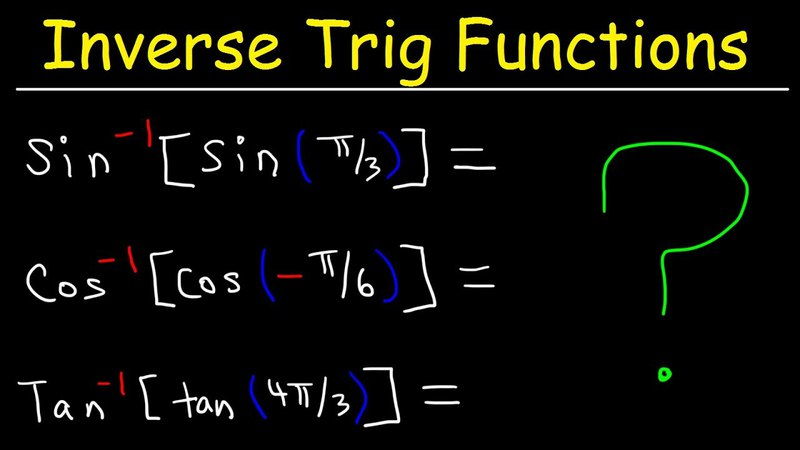 Composition of Inverse Trigonometric Functions, Basic Introduction