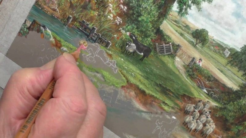 John Constable's The Cornfield in Pastel Pencils | Time Lapse