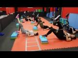 Функциональный тренинг со степ платформой,резиновыми петлями и блинами