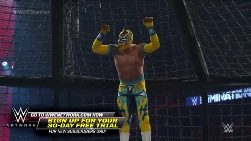 The first-ever tag team Elimination Chamber