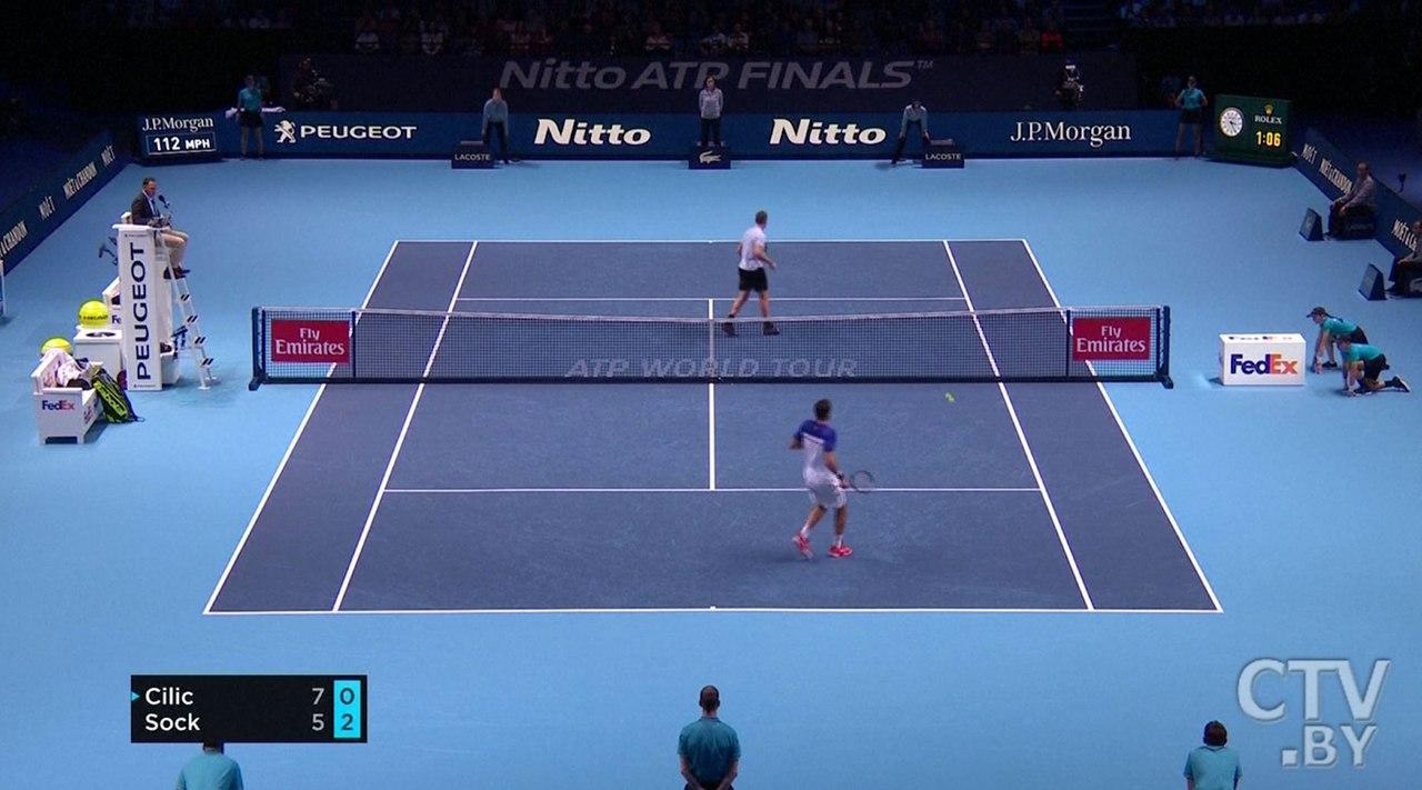 Швейцарец Федерер обыграл жителя Америки Сока настарте итогового турнира АТР