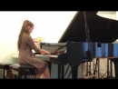 Кристина Гуслицер. В. Моцарт. Соната соль-мажор. Ф. Мендельсон. Песня без слов.