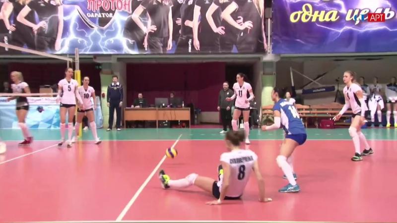 Волейбол Женщины чемпионат России Протон - Метар 22_01_2018