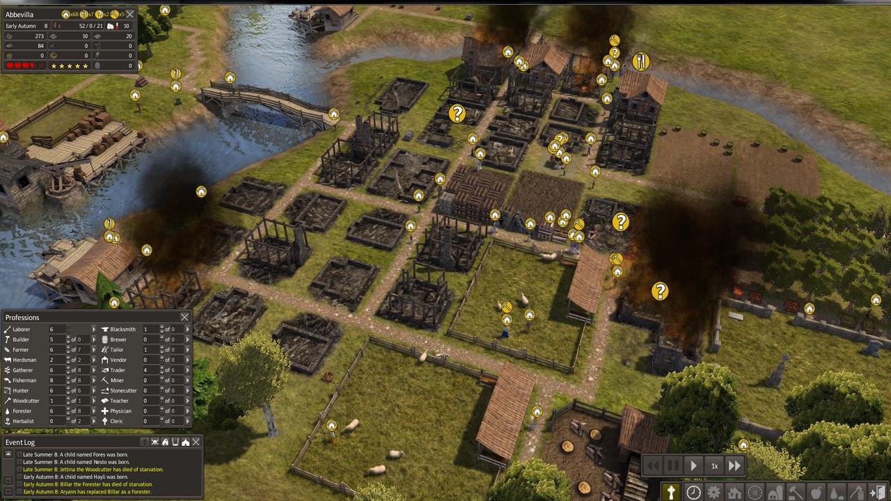 Скриншот игры Banished