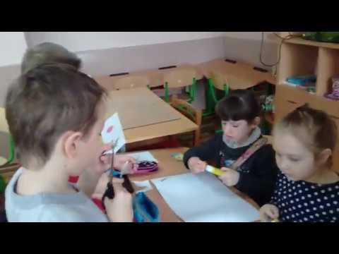Елемент ранкової зустрічі учнів 2 - А класу. Робота в групах. Виготовлення листівки Привіт, Весно!