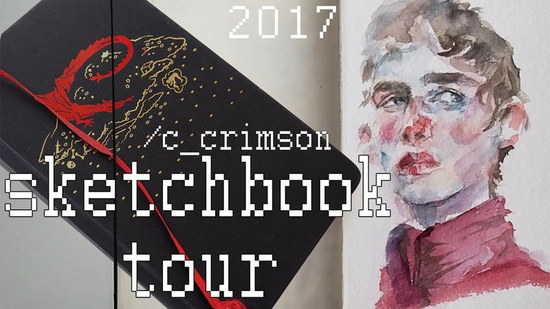 SKETCHBOOK TOUR jan july 2017 скетчбук moleskine flip through обзор скетчбука
