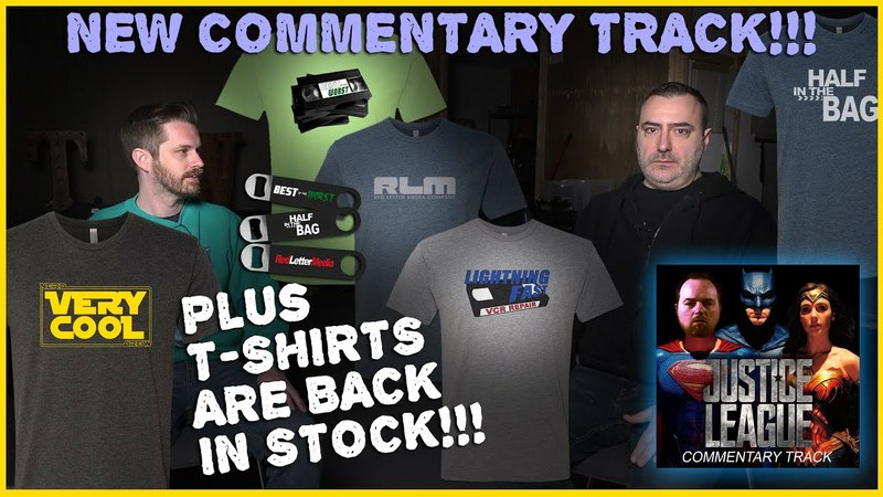 Justice League Commentary Track! T-Shirts! Back! In! Stock