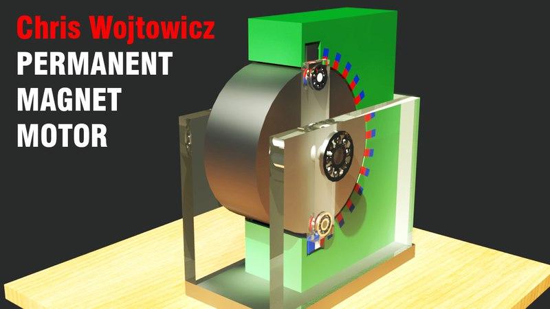 Free Energy Generator 2017, Chris Wojtowicz Permanent Magnet Motor, Amazing