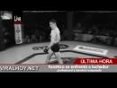 Fanático se enfrentó a luchador profesional y terminó noqueado