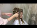 Как сделать Высокий пучок в технике гребешки Свадебная прическа Анна Комарова