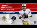 Jimmy Garoppolo Gets the Win in First Start as a 49er! - 49ers vs. Bears - Wk 13 Player Highlights