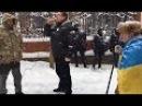 Автопробег домой к Луценко активистов Рух Новых Сил Саакашвили 24 02 2018