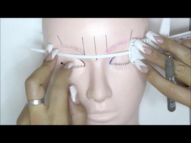 Medición de cejas microblading