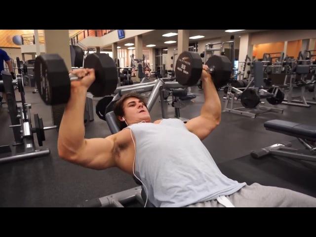 Jeff Seid  тренировка груди и трицепса