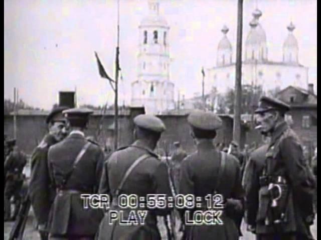 Генерал Миллер делает смотр белых частей в Архангельске » Freewka.com - Смотреть онлайн в хорощем качестве