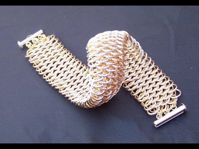 How to Dragonscale chainmaille weave Как плести кольчугу Чешуя дракона ускореный способ