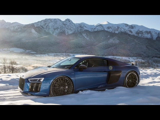 V10 SNOW = FUN! - 2018 AUDI R8 V10 PLUS (610hp,V10 NA) - WINTER WARRIOR - Amazing scenery